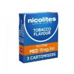 Nicolites cartomisers Medium Tobacco